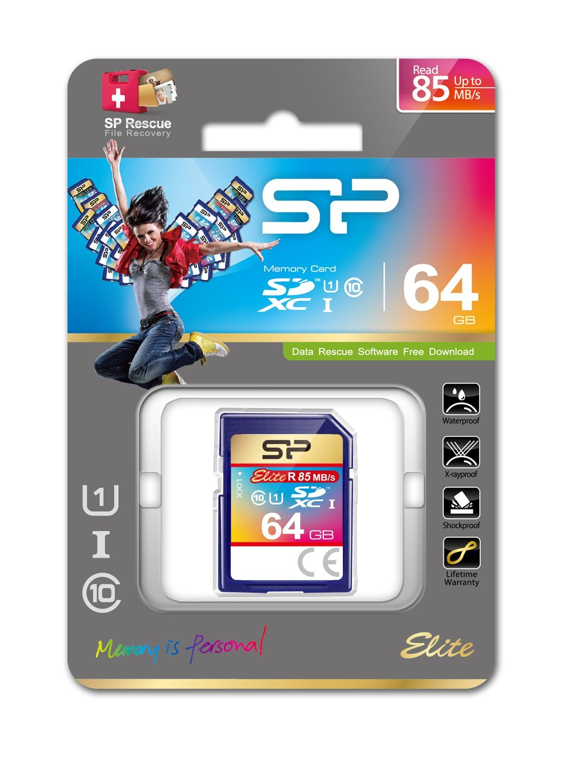 64GB Silicon Power Elite SDXC UHS-1 CL10 Memory Card 85MB/sec by Silicon Power (Image #2)