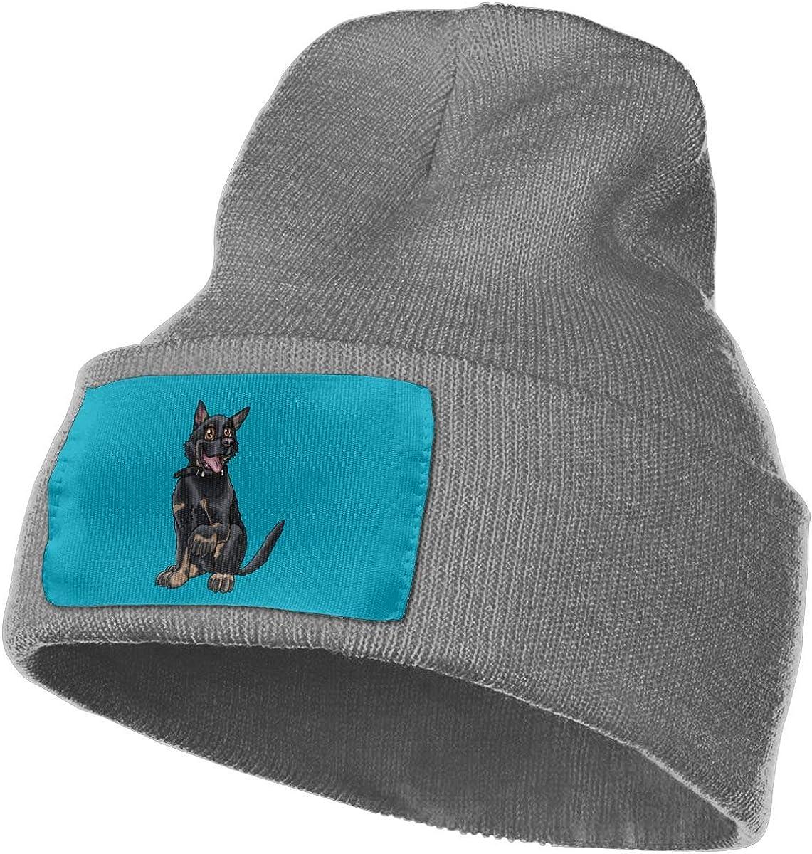 Oopp Jfhg Happy Shepherd Dog Wool Cap Skull Caps Unisex Winter Deep Heather