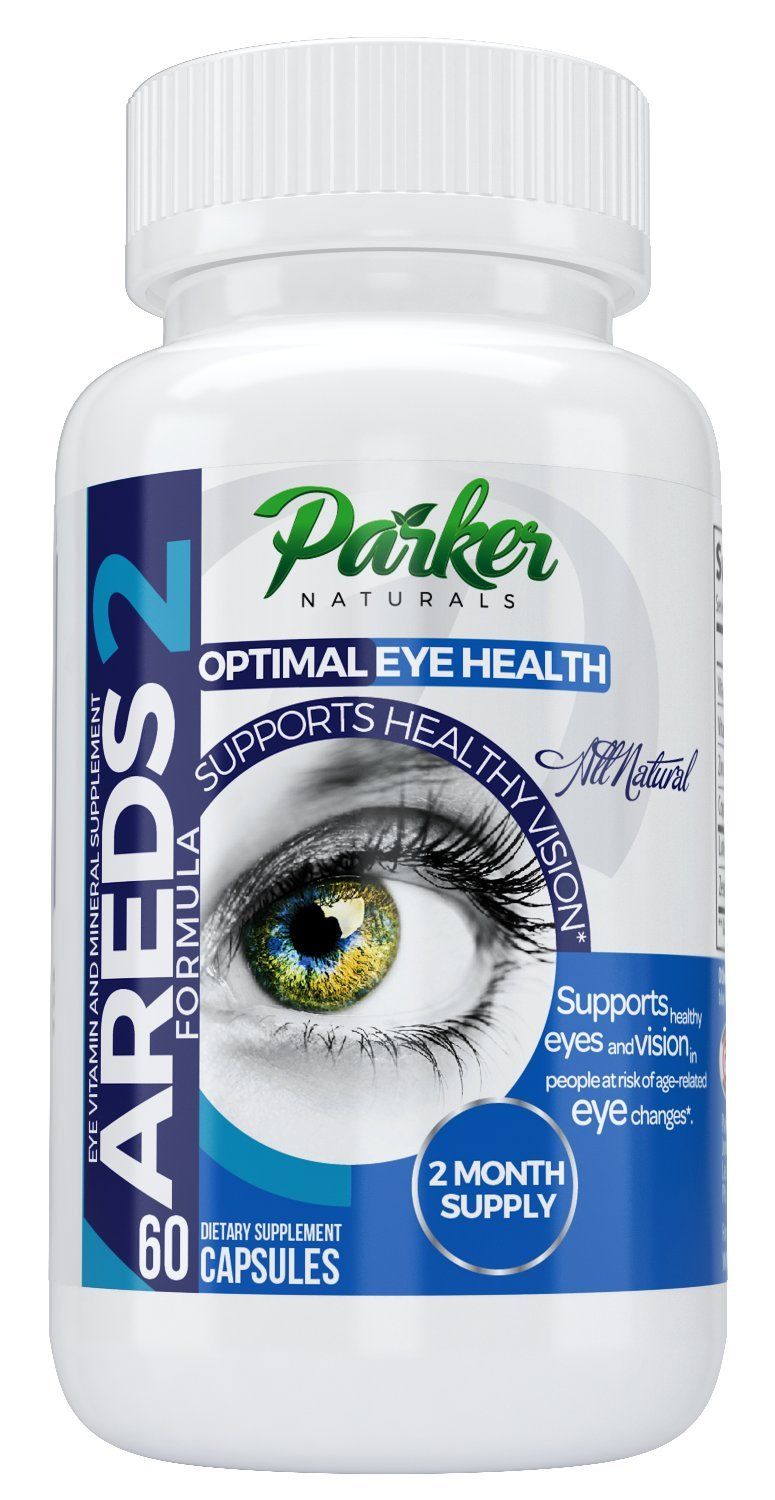 AREDS 2 Optimal Eye Health Eye Vitamin and Mineral Supplement by Parker Naturals. Packed with Vitamins C & E, Lutein, Zeaxanthin. Special NEI Tested Formula - 60 Day Supply by Parker Naturals