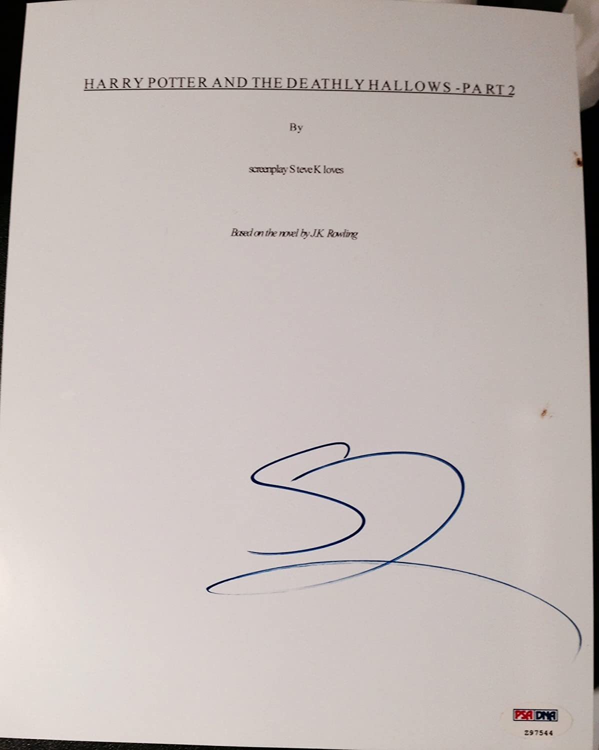 GARY OLDMAN SIGNED AUTOGRAPH RARE