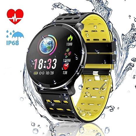 Amazon.com: CanMixs - Reloj inteligente con monitor de ...
