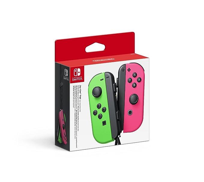 Paire de Joy-Con Switch (vert et rose néon)