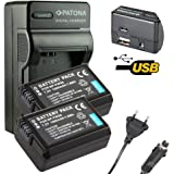 4en1 Chargeur PATONA + 2x Batterie pour SONY NP-FW50 NPFW50 NP-FW 50 NEX-3D NEX-3K NEX-6