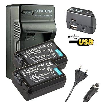 4en1 Cargador PATONA + 2x Bateria para SONY NP-FW50 NPFW50 ...