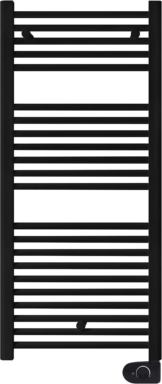 facula Radiador Toallero Eléctrico Fluido Negro Electrónico 700w