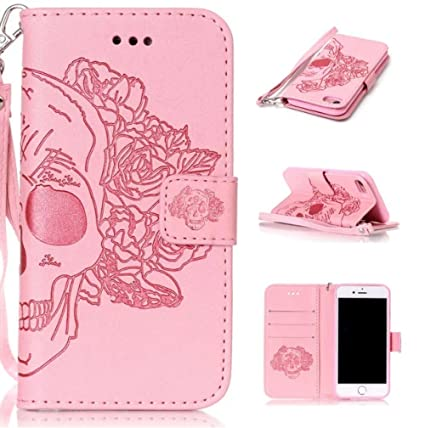 Amazon.com: iPhone 7 Funda, Fusicase de calavera Creative ...