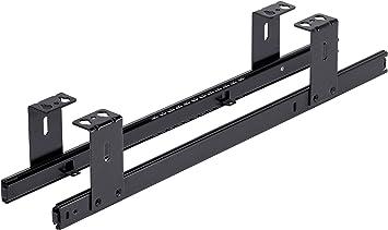 FIX&EASY Guías para bandeja y cajón, portateclados extraible deslizable negro 500mm, con extracto para teclado, ratón y laptop