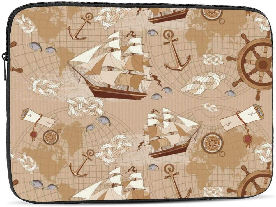 Sailboat Laptop Sleeve Bag Compatible with 10-17 Inch Funny Computer Bag Laptop Case