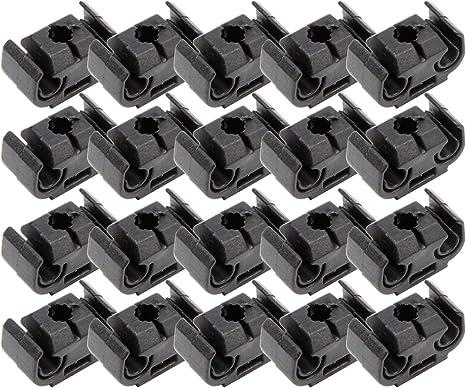 10x Halter doppelt Bremsleitungshalter Brems Leitung Auto Halterung Clip VW 4,75