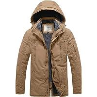 WenVen Men's Insulated Outdoor Jacket with Detachble Hood