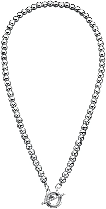 Elements Silver 925 Ladies' Heart Tag T-Bar Sterling Silver Necklace of 46 cm lJAOdRNov