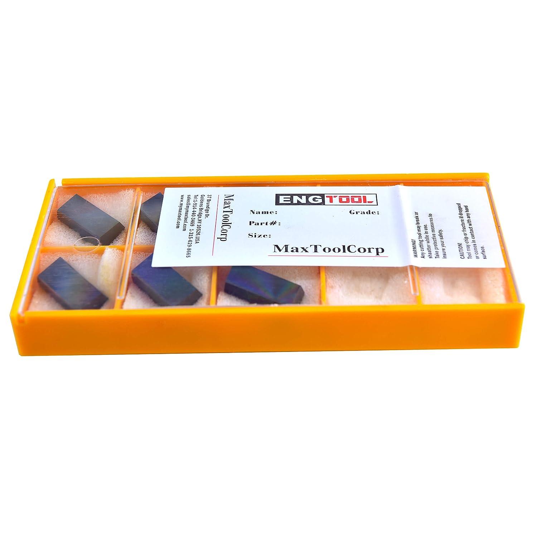MAXTOOL 6PCs SDR100-015-E1-W2 PCD TIP Milling Inserts Polycrystalline Diamond Grade 1500 SDR100-015-E1-W2P6