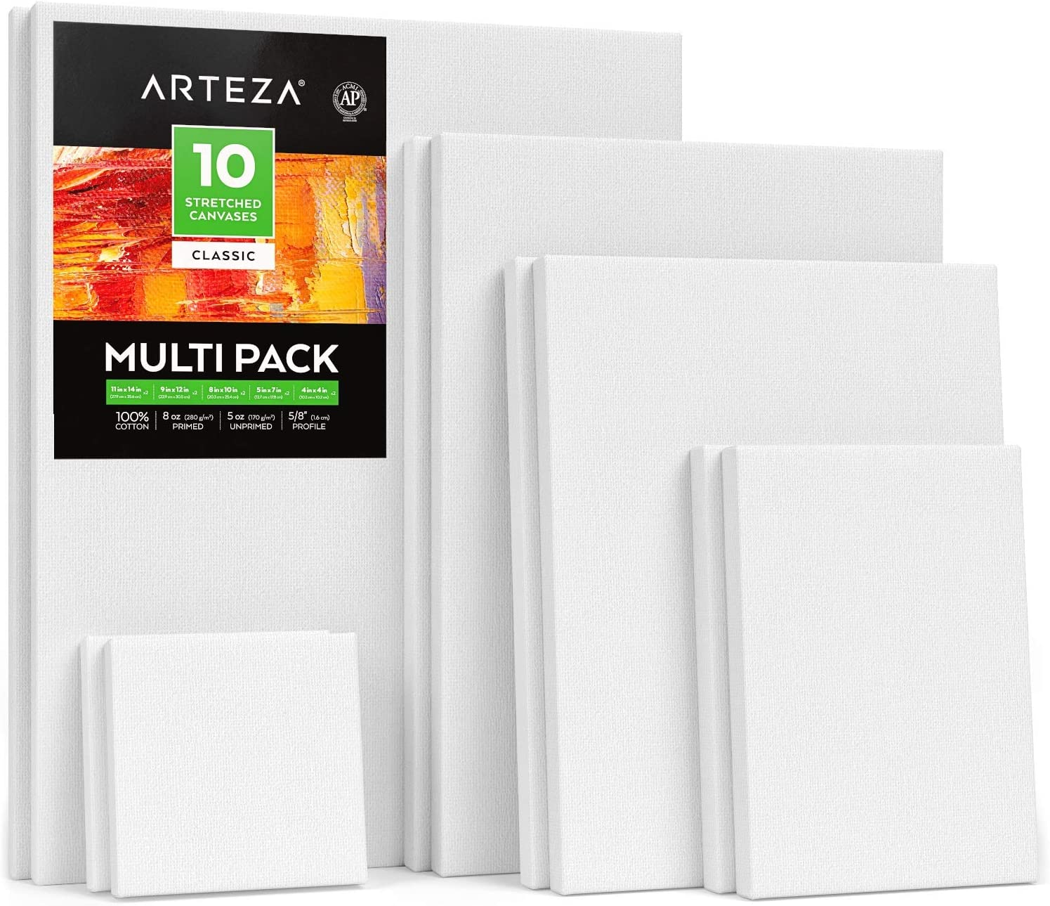 "4x4/"" White Blank Mini Stretched Artist Canvas Art Board Acrylic Oil Painting"