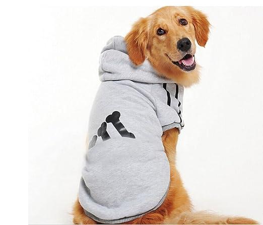 DUOZE Modelos De Invierno Perro Grande Piernas Suéter Ropa para Perros Ropa De Algodón Acolchado Ropa para Mascotas,Grey-XXXL