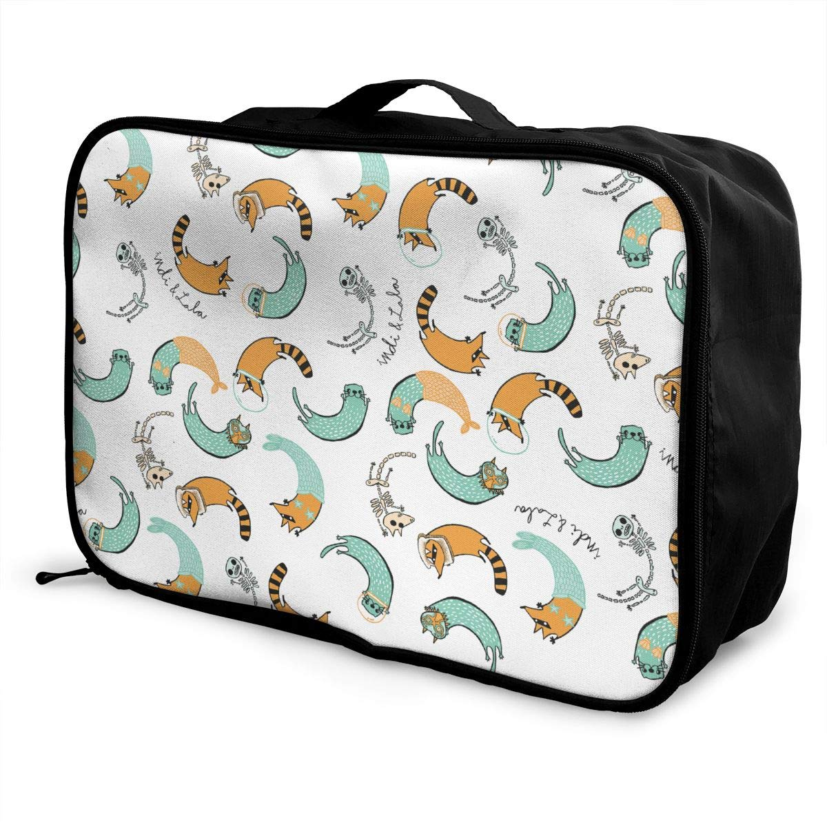 YueLJB Otter Raccoon Lightweight Large Capacity Portable Luggage Bag Travel Duffel Bag Storage Carry Luggage Duffle Tote Bag