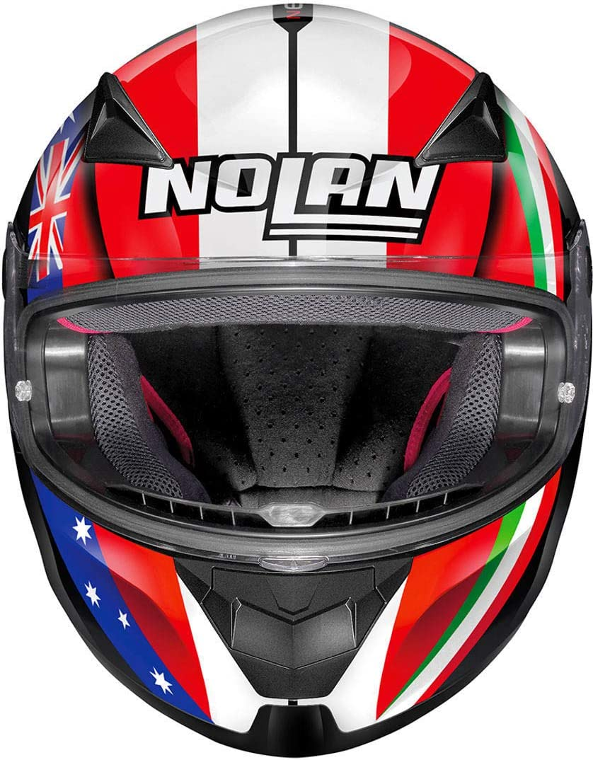 Nolan N60-5 Gemini R/éplique C.Stoner M/étal Blanc XS