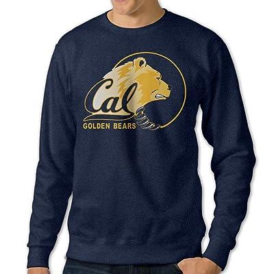 BestGifts Men's California University Berkeley Crew Neck Sweater Navy