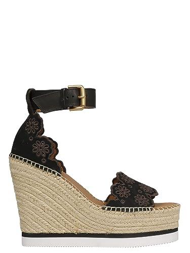 chaussures de séparation 2e93d 08e62 See by Chloé Femme SB3020207113999NERO Noir Cuir Chaussures ...