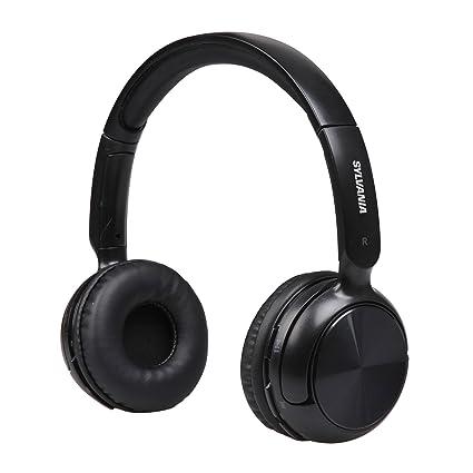 amazon com sylvania sbt235 black bluetooth wireless headphones with rh amazon com