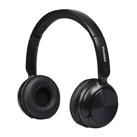 26438f18625 Amazon.com: Sylvania SBT235-Black Bluetooth Wireless Headphones with  Microphone, Black: Home Audio & Theater