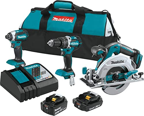 Makita XT333X1 18V LXT Lithium-Ion Brushless Cordless 3-Pc. Combo Kit 4.0Ah 2.0Ah