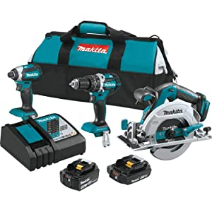 Makita XT333X1 18V LXT Lithium-Ion Brushless Cordless 3-Pc. Combo Kit (4.0Ah) (2.0Ah)