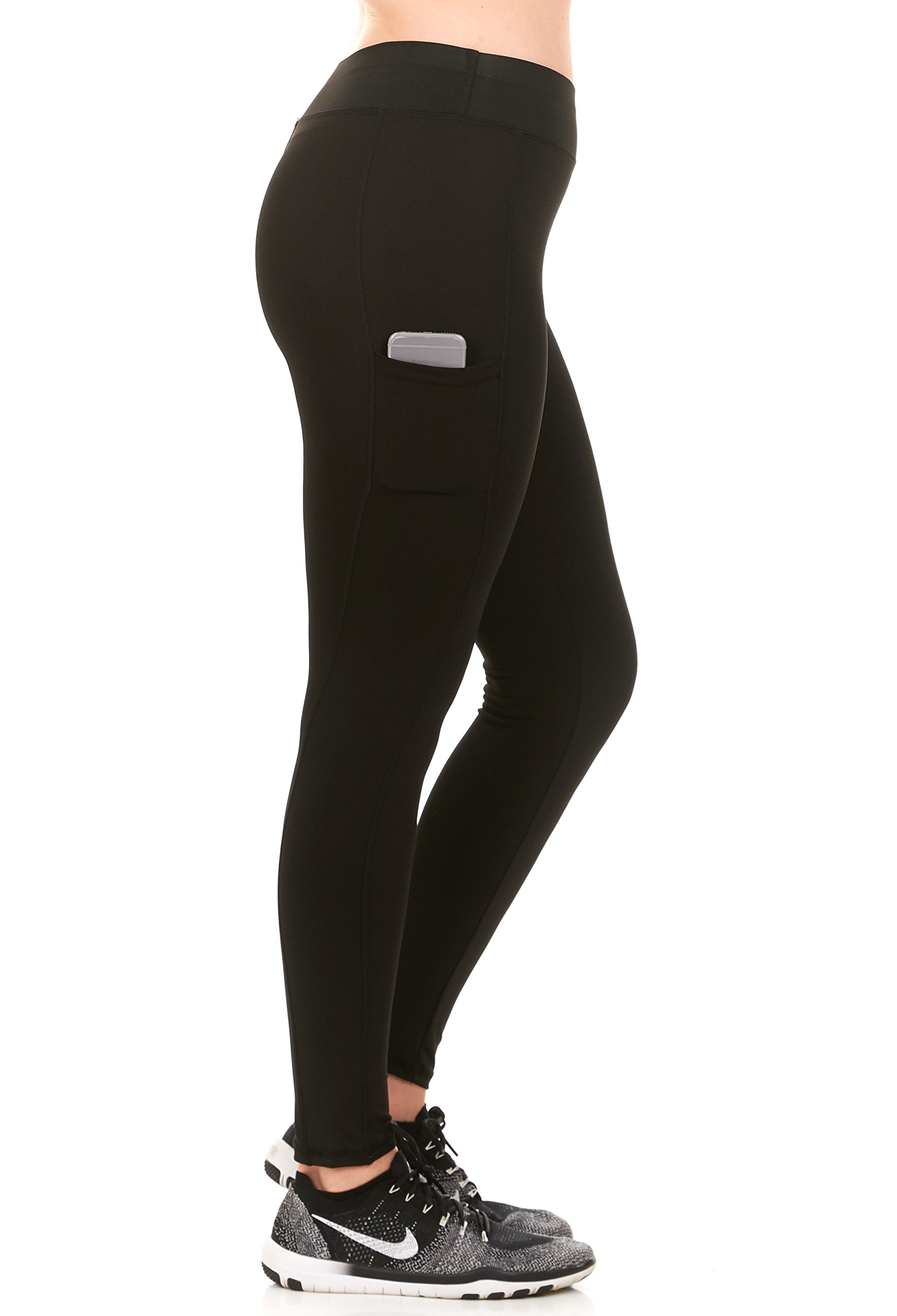 Unique Styles Womens Fitness Leggings High Waistband with Side Pocket