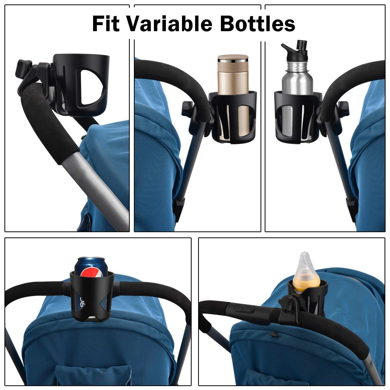 leegoal portavasos Carrito Bebe, Portavasos Universal Cochecito Taza Titular Bebida Botella Jaula Organizador con Clip para Caminantes, sillas de ...