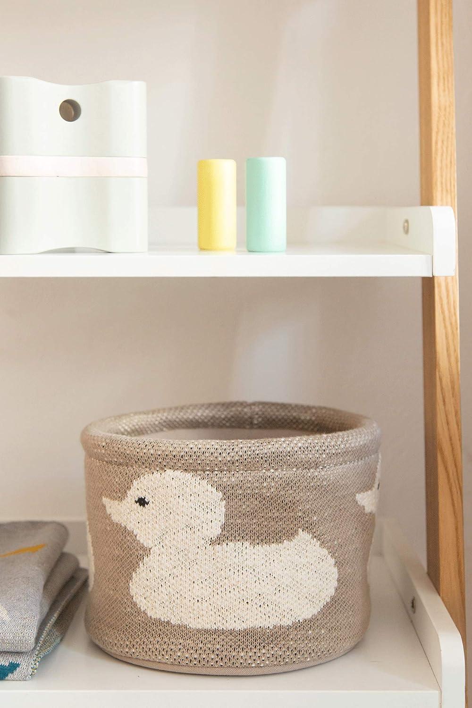 rond en tissu Kindsgut petit panier de rangement b/éb/é pour table /à langer gris lapin