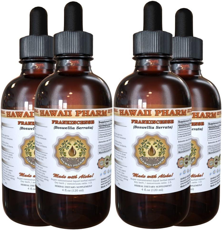 Frankincense Liquid Extract, Frankincense Boswellia Serrata Resin Powder Tincture Supplement 2×4 oz