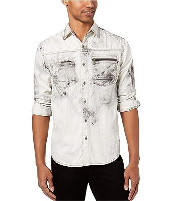 3638448cde1 Sean John Mens Denim Casual Button-Down Shirt at Amazon Men s Clothing store