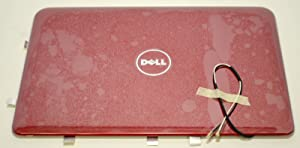 Dell New Inspiron Mini 10 1012 LCD Screen Top Lid Rear Back Cover Monitor Panel Red XMFR1 Cable Wire Inspirion Insprion Case Enclosure Housing Casing