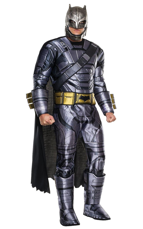 Rubie's Batman-Kostüm aus Batman vs. Superman, Deluxe-Outfit mit Batman-Panzerung, für Herren, Standard, Brustumfang: 111,8 cm, Taille: 76,2-86,4 cm, Beininnenlänge: 83,8 cm