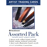 Strathmore (105-908 Artist Trading Cards, Assortment Pack, Natural White, 12 Sheets