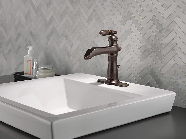 Delta Faucet Victorian Single-Handle Waterfall Bathroom ...