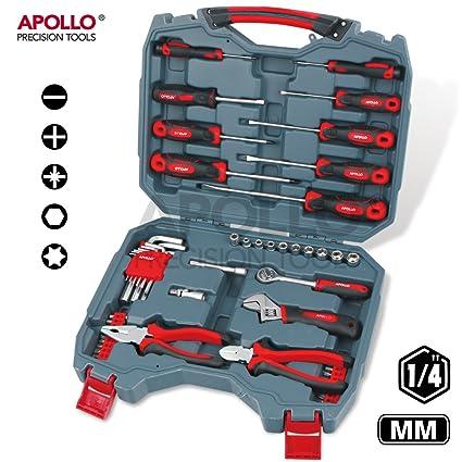 Apollo 54 piezas Destornilladores, y alicates 0,64 cm juego de herramientas para juego