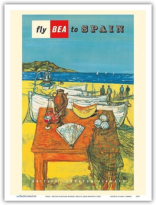España – British European Airways (Bea) – Vintage Airline Travel ...