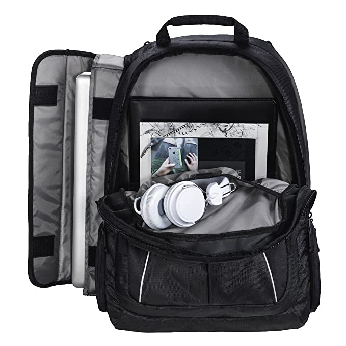 0c2f50bc82 Hama Vienna Notebook Backpack for 17.3 inch Laptops - Black  Amazon.co.uk   Computers   Accessories