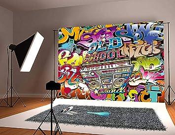 Daniu 90s theme Party Background Graffiti vinilo Fotografía Telones de fondo para Studio Props 7x5FT Daniu-dn022