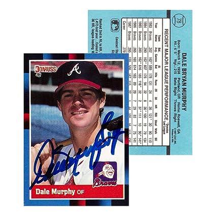Dale Murphy Signed 1987 Donruss 78 Atlanta Braves Baseball Card