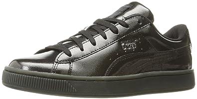 PUMA Men's Basket Classic Explosive Fashion Sneaker, Black Black, ...