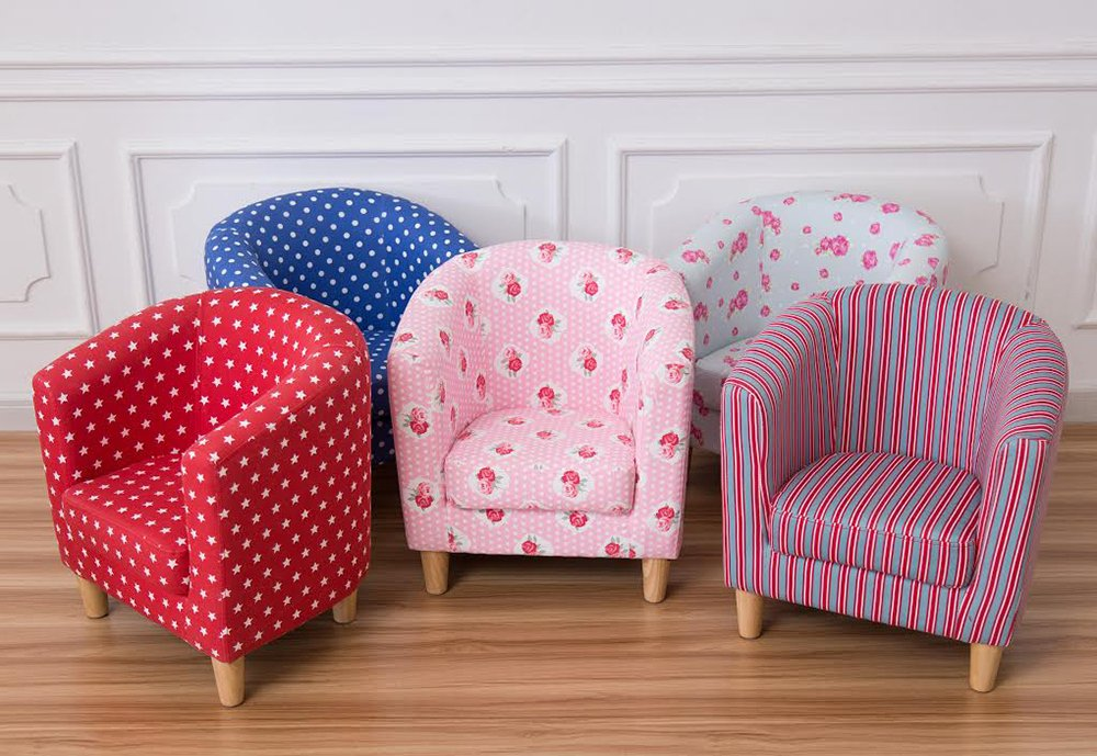 Other Children\'s Pink Floral New Style Tub Chair: Amazon.co.uk ...