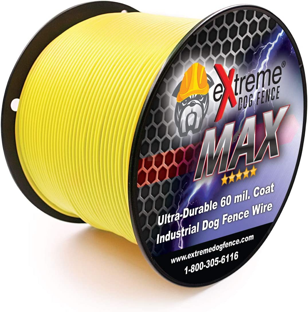 Maximum Performance Dog Fence Wire – Ultra Thick 60 Mil Polyethylene Protective Jacket – Designed for Max Life Reliability and Low Signal Loss – Universal Compatible