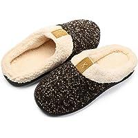 Zapatillas de Estar por casa Mujer Hombre Espuma de Memoria Invierno Interior Pantuflas Caliente Forro Ultraligero…