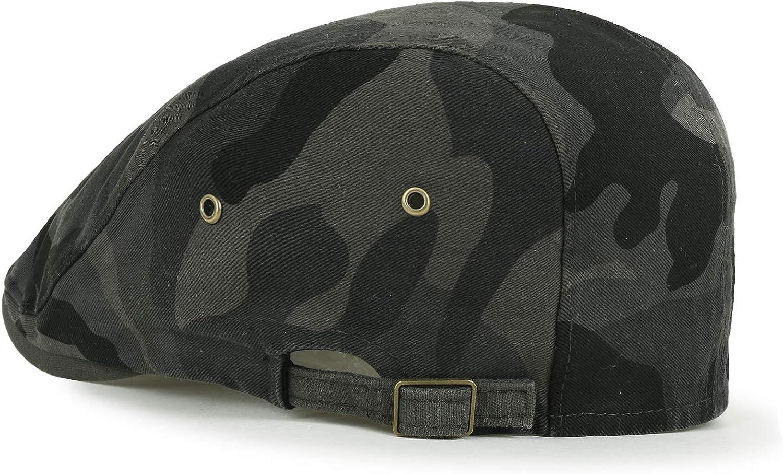 Golferm/ütze flach Cap Camouflage Chauffeurhut ililily Tarnkleidung Baumwolle angepasst Gatsby Schieber Hut Cabbie