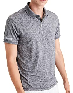 7aee976852f American Eagle Outfitters Mens Short Sleeve Sport Polo Shirt Melange Grey