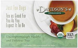 Davidson's Tea Lemon Ginseng Green, 100-Count Tea Bags