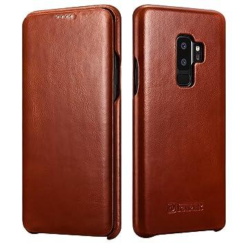 788469d50a486 ICARER Galaxy S9 Plus Ledertasche Hülle