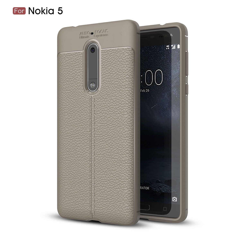 pinlu® Funda para Nokia 5 TPU Suave y Flexible Gel Silicone Case ...