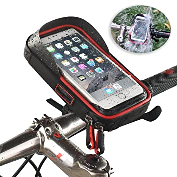 Bike Phone Bag Screen Touch Bicycle Front Frame